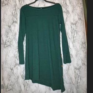 Green dress with buttons/NEVER BEEN WORN!